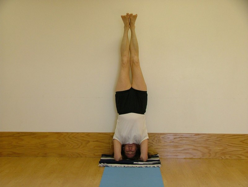 (6) Sirsasana (if possible)