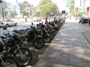 Motorcycle row